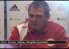 """Video: Vinokurovs:""""Drīzāk zaudējām divus, nekā izcīnījām vienu punktu"""""""