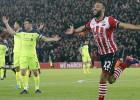 Liverpūle Līgas kausa pusfinālu sāk ar zaudējumu ''Southampton''