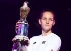 Pliškova Dohas finālā pieveic Vozņacki, iegūst sezonas otro titulu