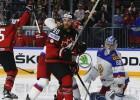 Hokeja titānu cīņā Kanāda pieveic Krieviju un iesoļo finālā