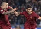 """""""Roma"""" uzvar Galvaspilsētas derbijā un aptur """"Lazio"""" uzvaru sēriju"""