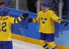 Zviedrija iztur somu beigu spiedienu, nodrošinot olimpisko ceturtdaļfinālu