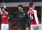 """Mančestras """"City"""" jau pirmajā puslaikā satriec """"Arsenal"""" un turpina dominēt Premjerlīgā"""
