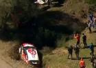 Lēbs jau Korsikas rallija sākumā piedzīvo avāriju (+video)