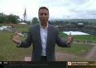 Video: ESPN žurnālists ēterā sabojā uzvalku, šļūcot pa dubļu trasi