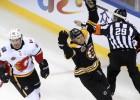 """Debraskam divi vārti Bostonas """"Bruins"""" otrajā uzvarā Ķīnā"""