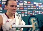 """Video: Šteinberga: """"Man bija jānes rezultāts iepriekšējās spēlēs"""""""