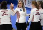 Latvijas kērlingistes mačā pret Dāniju gūst pirmo uzvaru pasaules čempionātā