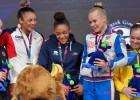 Video: Apbalvošanas ceremonijā Eiropas čempionei pasniedz banānus
