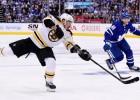 """Maršānam trīs punkti """"Bruins"""" uzvarā, Kolorado panāk 3-1 pret """"Flames"""""""