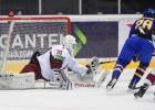 Latvijas U18 izlase iemet pirmā, bet tomēr piekāpjas Zviedrijai