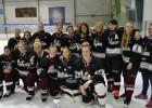 """""""Laima"""" nosargā Latvijas čempiones titulu sieviešu hokejā"""