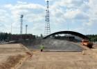 Jaunajā BMX trasē Valmierā pabeigti virāžu asfaltēšanas darbi