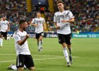 Vācija Euro U21 iesāk ar drošu uzvaru, Austrijas līderis gūst šausminošu savainojumu