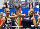 """""""US Open"""" sieviešu dubultspēļu turnīrā triumfē Mertensa un Sabaļenka"""