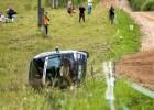 Minirallijā ''Rauna'' uzvar Kalvis Blūms, divas ekipāžas avarē (+video)