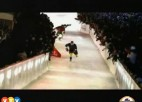 "Video: ""Red Bull Crashed Ice"" atlase turpinās Valmierā"