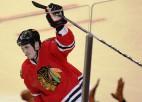 NHL ''play-off'': ''Sharks'' izglābjas, ''Blackhawks'' nepadodas