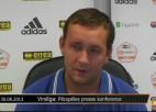 """Video: Lajuks:""""Ja Kovaļovs grib spēlēt augstākā līmenī, tad viņam jāmaina psiholoģiskā pieeja futbolam"""""""