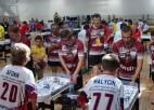 Eiropas čempionāta galda hokejā pirmajā dienā Latvijai trīs bronzas