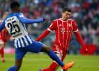 """""""Bayern"""" uzvaru sērija apstājas pie 10 - """"Hertha"""" notur 0:0"""