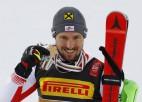 Hiršers jau sesto reizi iegūst Pasaules kausu slalomā, Šifrina atkārto rekordu