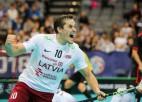 Saeimā sveiks Latvijas vīriešu florbola izlasi