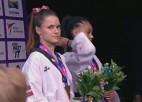 Video: Inese Tarvida izcīna PČ bronzu; apbalvošanas ceremonija