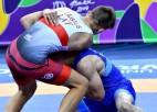 Jaunatnes olimpiādē grieķu - romiešu cīņā Laugalis izcīna piekto vietu