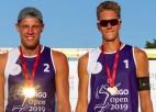 Video: Sarkanās kartītes atvēsina iekarsušos pludmales volejbolistus LČ finālā