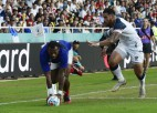 Francija izmoka piecu punktu uzvaru pār ASV