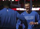 NBA sezonas ievadā Porziņģis debitēs pret Bertānu, Kurucam <i>vilku medības</i>