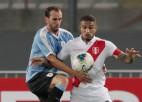 Tiekoties otro reizi četrās dienās, Peru un Urugvaja spēlē neizšķirti