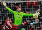 """Mančestras """"United"""" atkārto kluba antirekordu un zaudē Bornmutā"""