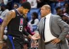 """Džordžs uzskata, ka """"Clippers"""" klupšanas akmens Riversa vadībā bijusi nespēja pielāgoties"""