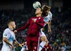 Teksta tiešraide: Slovēnija – Latvija 1:0 (spēle galā)