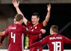 Beidzot uzvara: Oša vārti ļauj Latvijai Rīgā apspēlēt Austriju