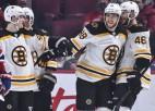 """Pastrņākam """"hat-trick"""", """"Bruins"""" derbijā iemet astoņus un <i>iznīcina</i> Monreālu"""