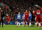 """Vārtsarga noraidījums neliedz """"Liverpool"""" vēl vairāk nostiprināt vadību"""