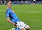 """Milikam """"hat-trick"""" 35 minūtēs, """"Napoli"""" un """"Liverpool"""" iekļūst ČL """"play-off"""""""