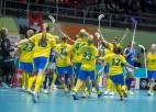 PČ florbolā: Šveice finālā lūkos tikt pie pirmās uzvaras pār zviedrietēm