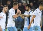 """""""Lazio"""" kompensācijas laikā no 0:1 panāk 2:1 un turpina uzvaru sēriju"""
