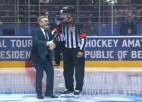 Video: IIHF prezidents Fāzels nokrīt uz pēcpuses pirms simboliskā iemetiena