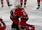 Video: NHL mača uzvarētāji sarīko vārtsargu sumo cīņu