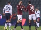 """Par Itālijas kausa pirmo ceturtdaļfinālisti 11 metru sitienu sērijā kļūst """"Torino"""""""