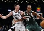 """Kurucam divi trīspunktnieki, """"Nets"""" nespēj apturēt līgas līderi """"Bucks"""""""