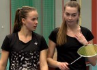 Video: Lencēviča/Romanova uzvar Latvijas čempionāta badmintonā sieviešu dubultspēļu finālā