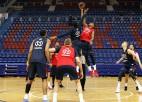 Strēlniekam 2+2 CSKA treniņspēlē, kamēr VTB un Eirolīga apstājusies