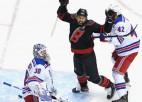 """NHL sezona atsākas ar Karolīnas uzvaru pār """"Rangers"""""""