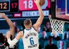 """Video: Porziņģim 23 punkti un karjeras pirmā uzvara NBA """"play-off"""""""